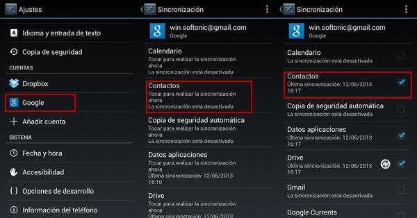 Sincronizar contactos android con gmail | Actualizado